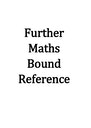 Cover page of Mathematics Further Units 3+4 Notes