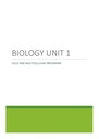 Cover page of QCAA Biology Unit 1 Compiled Notes 2020