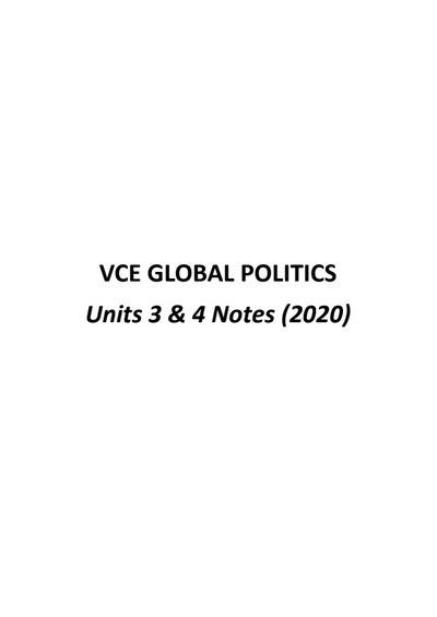 Cover page of Global Politics (2020)