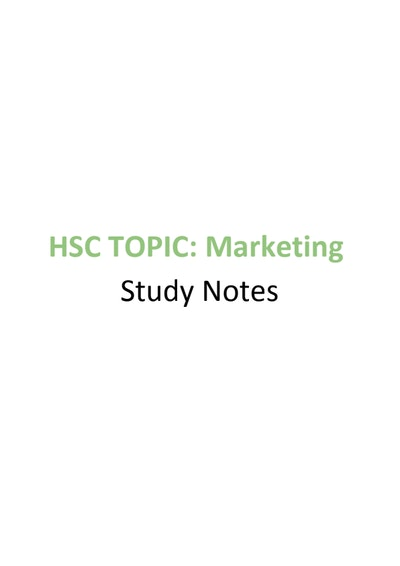 Cover page of Business Notes Full Course