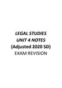 Cover page of VCE Unit 4 Legal Studies Summary Notes 2020