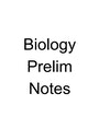 Cover page of Biology prelim notes for