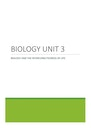 Cover page of QCAA Biology Unit 3 Compiled Notes 2021